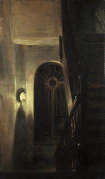 A.von Menzel, Treppenflur bei Nachtbel. von AKG  Images