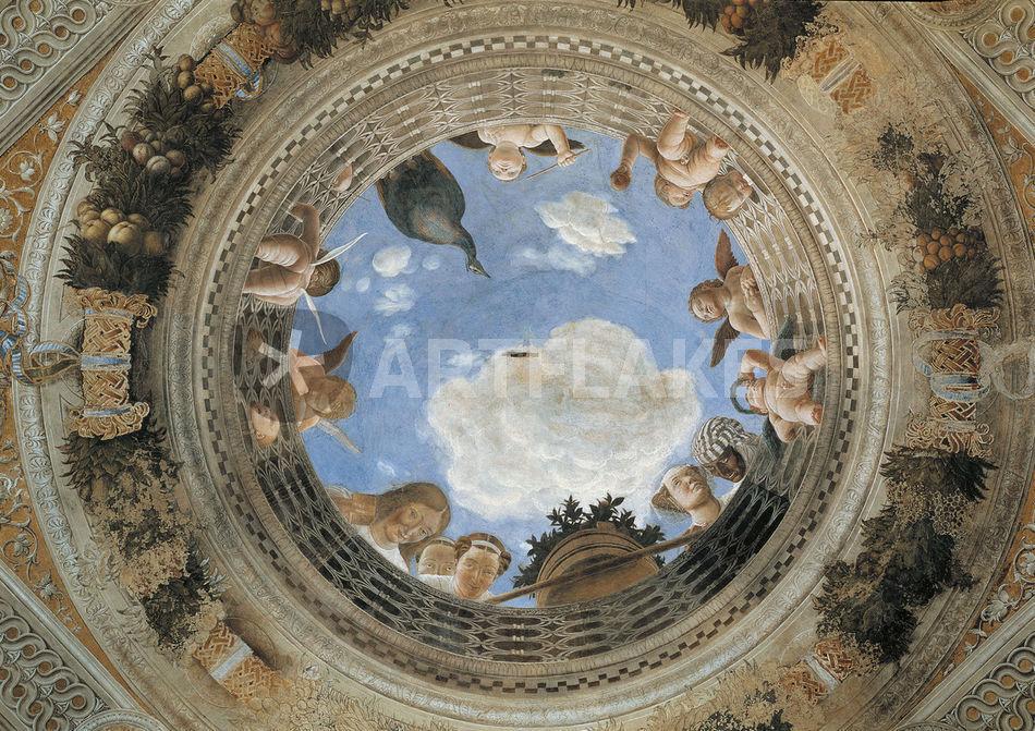 Mantegna camera degli sposi decke picture art prints for Mantegna camera degli sposi