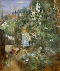 B. Morisot, Kind zwischen Stockrosen von AKG  Images
