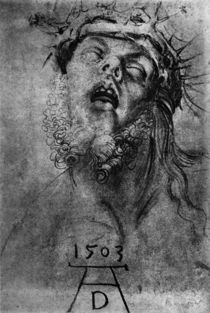 A.Duerer, Kopf des toten Christus by AKG  Images