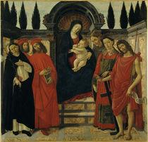 Botticelli Werkstatt, Madonna m.Heiligen von AKG  Images
