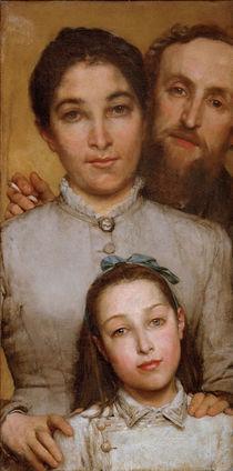 Jules Dalou mit Frau u.Tochter / Alma T. by AKG  Images