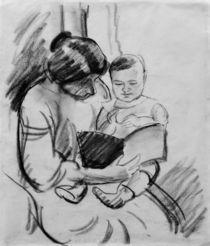 A.Macke, Mutter mit Kind lesend von AKG  Images