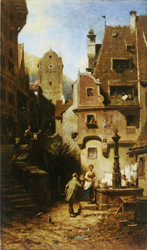 Spitzweg, Der ewige Hochzeiter/ um 1850 von AKG  Images
