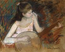 M.Cassatt, Maedchen mit Banjo by AKG  Images