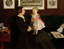 J.E.Millais, Mrs.James Wyatt u.Tochter von AKG  Images