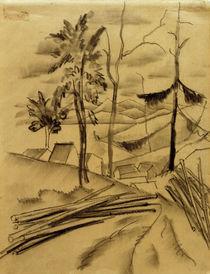 August Macke, Landschaft mit Baumstaemmen by AKG  Images