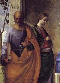 G.Bellini, Maria mit Kind & Hlgn., Det. by AKG  Images