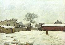 A.Sisley, Hof eines Landgutes im Schnee von AKG  Images