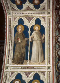 Simone Martini, Hl.Antonius u.Franziskus by AKG  Images