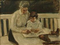 M.Liebermann, Enkelin und Kinderfrau by AKG  Images
