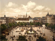 Bremerhaven, Marktplatz / Photochrom von AKG  Images