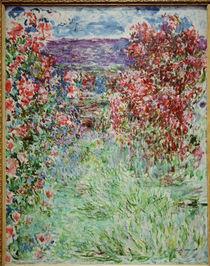 Claude Monet,Das Haus zwischen den Rosen by AKG  Images
