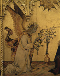 Simone Martini, Verkuendigung, Engel by AKG  Images