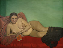F.Vallotton, Liegender Akt mit Buch by AKG  Images