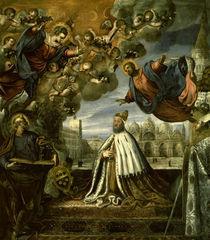 Tintoretto/ Pietro Loredan dankt Madonna von AKG  Images