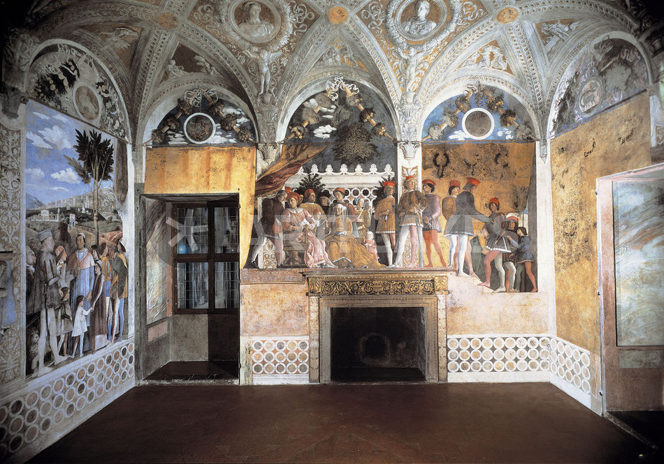 Mantua camera degli sposi nordwand picture art prints for Andrea mantegna camera degli sposi