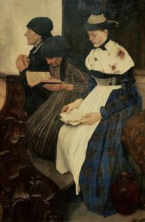 W.Leibl, Drei Frauen in der Kirche von AKG  Images