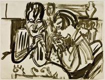 E.L.Kirchner, Paar am Tisch by AKG  Images