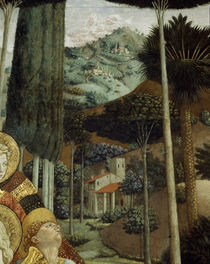 B.Gozzoli,Landschaft/Cap. dei Magi, 1459 by AKG  Images