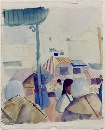 A.Macke, Markt in Tunis II by AKG  Images