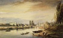 Daubigny/Seine,Blick Notre Dame/Aquarell von AKG  Images