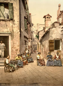 venedig, Calle dell'Angelo / Photochrom von AKG  Images