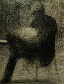 G.Seurat, Sitzender Mann (..) lesend von AKG  Images