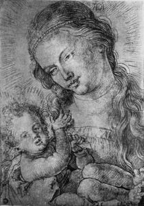 A.Duerer, Maria mit Kind in Halbfigur by AKG  Images