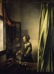 Vermeer, Brieflesendes Maedchen by AKG  Images