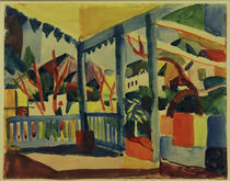 A.Macke, Terrasse in St.Germain von AKG  Images