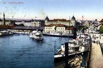 Konstanz, Hafen / Bildpostkarte, um 1910 von AKG  Images