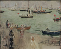 B.Morisot, Hafenszene, Isle of Wight von AKG  Images