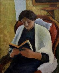 A.Macke, Lesende Frau im roten Sessel von AKG  Images