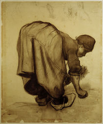 Van Gogh, Baeuerin beim Aehrenlesen by AKG  Images