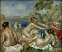 A.Renoir, Drei Badende mit Krabbe von AKG  Images