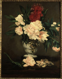 E.Manet, Vase mit Pfingstrosen by AKG  Images