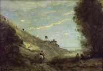 C.Corot, Kleines Tal mit Reiter von AKG  Images