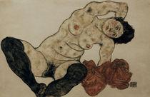 E.Schiele, Liegender Akt mit Handtuch von AKG  Images
