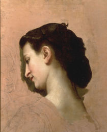 W.A.Bouguereau, Kopfstudie junge Frau von AKG  Images