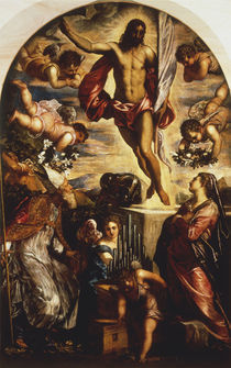 Tintoretto, Auferstehung Christi m.Hlgen by AKG  Images