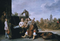 David Teniers d.J. mit Familie by AKG  Images