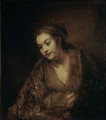 Rembrandt, Halbfigur einer Frau by AKG  Images