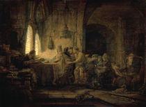 Rembrandt, Arbeiter im Weinberg von AKG  Images