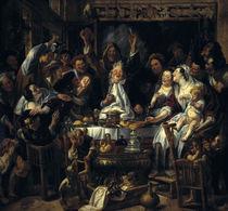 J.Jordaens, Der Koenig trinkt by AKG  Images