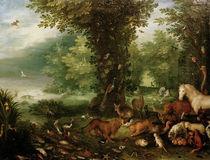J.Brueghel d.Ae., Paradieslandschaft von AKG  Images
