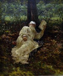 Leo Tolstoj / Gemaelde von Repin by AKG  Images