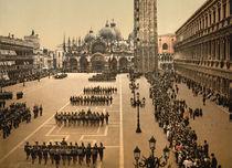 Venedig, S.Marco, Parade / Photochrom von AKG  Images