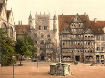 Hildesheim, Tempelhaus / Photochrom von AKG  Images