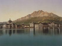 Luzern mit Pilatus / Photochrom um 1900 by AKG  Images